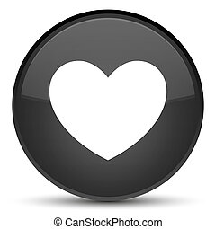 Heart icon special black round button