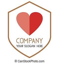Heart icon. Two piece heart vector. Half heart.