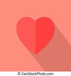 heart icon vector. flat design