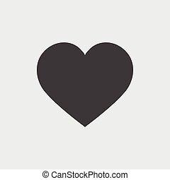 Heart icon, vector icon eps10.
