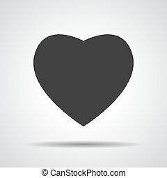 heart icon, vector illustration