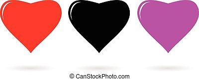 Heart Icon vector illustration Flat design style
