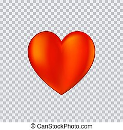 Heart icon vector illustration on transparent background.