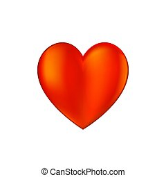 Heart icon vector illustration on white background.