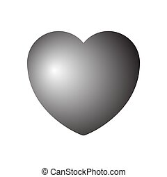 Heart icon. Vector illustration on white background