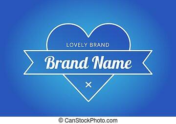 Heart icon vector logo brand concept