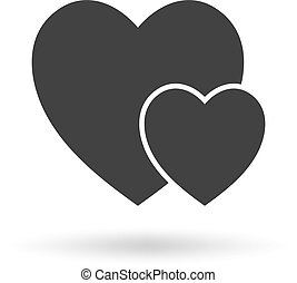 Heart Icon Vector. Love symbol. Valentine's Day sign, emblem isolated on white background.