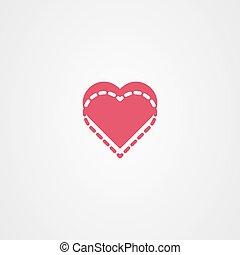 Heart icon vector. Love symbol. Valentine's Day sign.