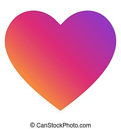 Heart Icon Vector. Perfect Love symbol. Trendy multicolor logo. Isolated illustration on white background.