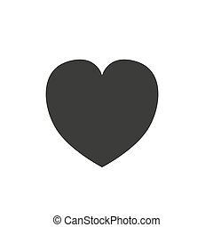 Heart Icon Vector. Perfect Love symbol. Valentine s Day sign, emblem isolated on white background with shadow, Flat style for graphic and web design, logo.