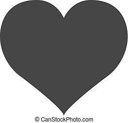 Heart Icon Vector. Perfect Love symbol. Valentine s Day sign, emblem isolated on white background. Flat style for graphic and web design, logo.