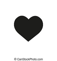 Heart Icon Vector. Perfect Love symbol. Valentine s Day sign, emblem isolated on white background with shadow, Flat style for graphic and web design, logo