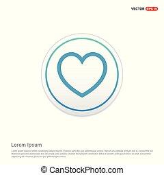 Heart icon - white circle button
