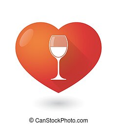 Heart icon with a glass