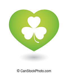 Heart icon with a leaf
