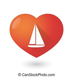 Heart icon with a ship