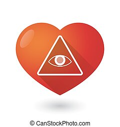 Heart icon with an all seeing eye