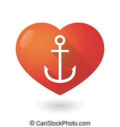 Heart icon with an anchor