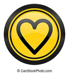 heart icon, yellow logo, love sign
