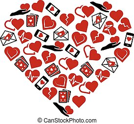 heart icons in heart