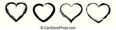 Heart icons vector. Love symbol. Valentine s Day sign.