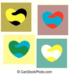 Heart Icon,vector illustration