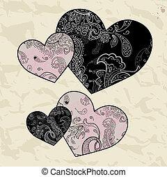 Heart illustration. Love. Vector background.