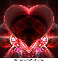 Heart Illustration - This fractal is shaped like a heart....