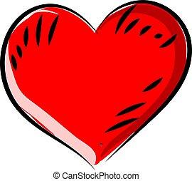 Heart, illustration, vector on white background.