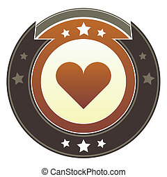 Heart imperial button