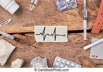 Heart impulses and narcotics.
