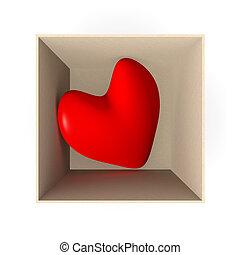 Heart in a box