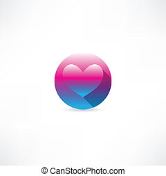heart in a circle icon