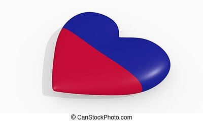 Heart in colors and symbols of Haiti, loop - Heart in colors...