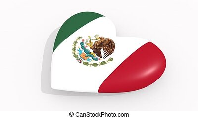 Heart in colors and symbols of Mexico, loop - Heart in...
