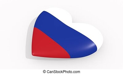 Heart in colors and symbols of Russia, loop - Heart in...