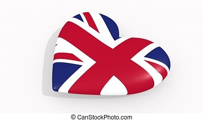 Heart in colors and symbols of United Kingdom loop - Heart...