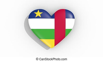 Heart in colors flag of Central African Republic