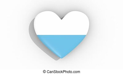 Heart in colors flag of San Marino pulses, loop