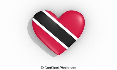 Heart in colors flag of Trinidad And Tobago, loop - Heart in...