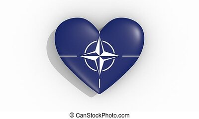 Heart in colors NATO pulses, loop - Heart in colors North...