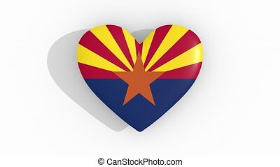 Heart in colors of flag of US state Arizona, loop