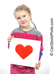 heart in girl hands