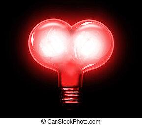 Heart in lightbulb
