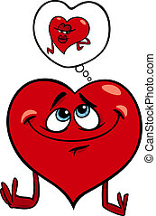 heart in love cartoon illustration