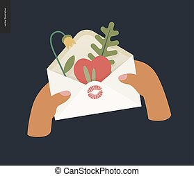 Heart in the envelope - Valentine graphics