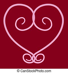 Heart in the form of a monogram.
