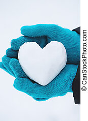 heart in the hands, Close-up