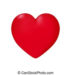 Heart in vector on white background.