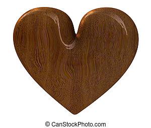 heart in wood (3D)
